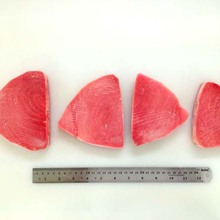 Frozen Yellow fin tuna belly portion steak kama saku cube for Japan Market