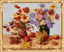 GX 7615 flower diy paint by numbers on canvas art kits for adults and kids