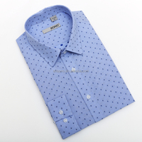 Design blue dot men shirts MTM shirts------ CMT price