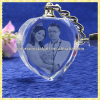 Personalized 3D Laser Engraved Crystal Pendant For New Year Gifts Items