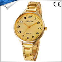 High Quality Fashion Geneva Brand Dress Thin Watch Ladies Quartz Gold Stainless Steel Wrist Watch GW120