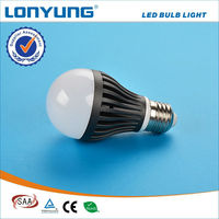 High quality nice product 5w led bulb size chart with SAA TUV CE RoHs 3 years warranty