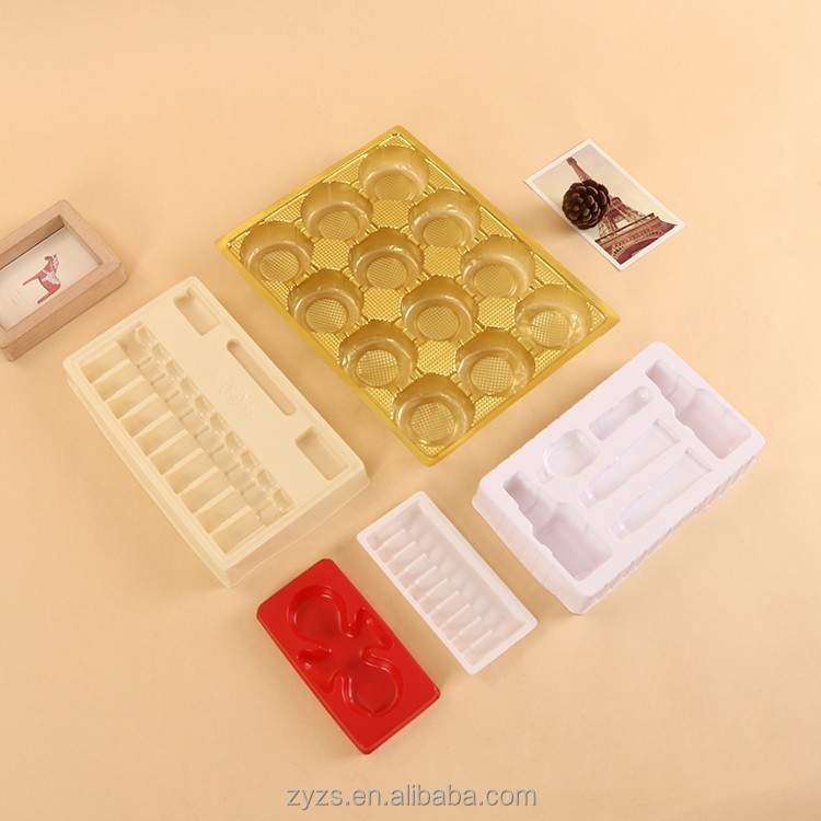 food grade clear plastic chocolate boxes box inserts blister retail packaging