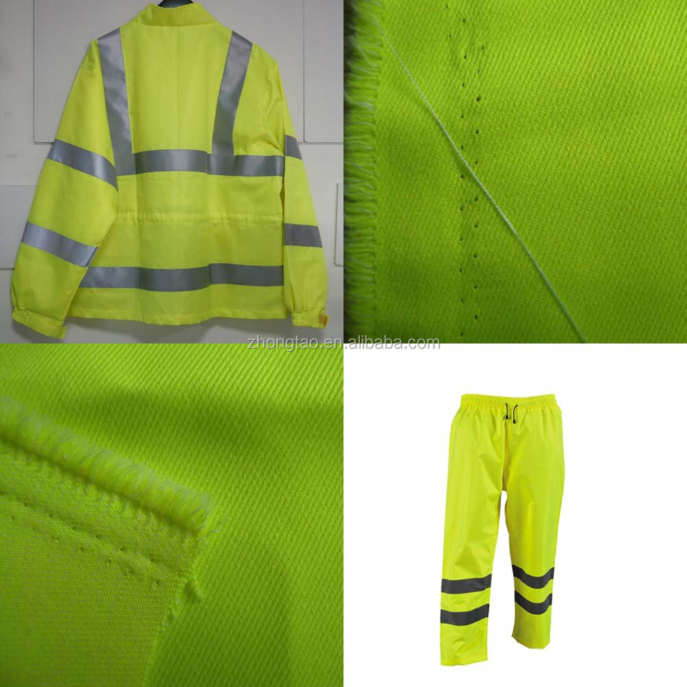 Fluorescent Yellow Fabric En471 Fabric for Safty Jacket