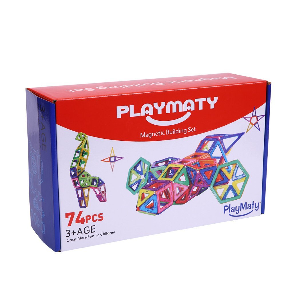 PlayMaty 74pcs magnetic building blocks factory