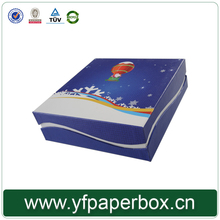 Quality assurance wholesale blue paper packaging gift jewellery box