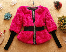 D90635L NEW AUTUMN AND WINTER FASHION FUR LADIES COAT