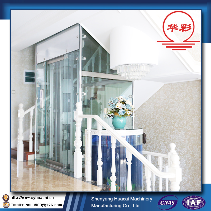 HC-320 profession custom best price stainless steel CE used small home elevator lift
