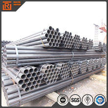 Exhaust end erw round black pipe iron metal od 2 inch weld steel pipe tube oil and gas line pipe