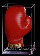 SGS approved hot sale best price clear acrylic boxing glove display case with glove display for sale