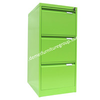 Commercial 3 Drawer Letter Width Vertical File - GREEN