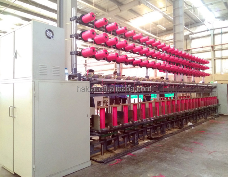 Ring yarn doubling and twisting machine for production plastic polypropylene pp wrapping twine