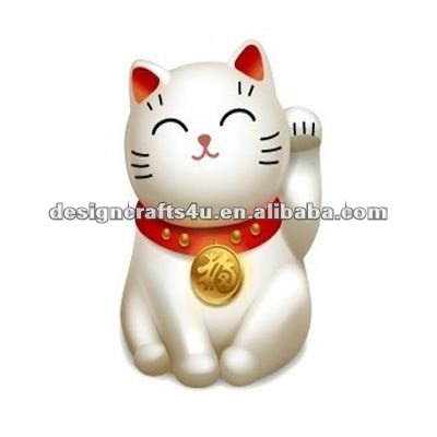 Ceramic White Welcoming Cat