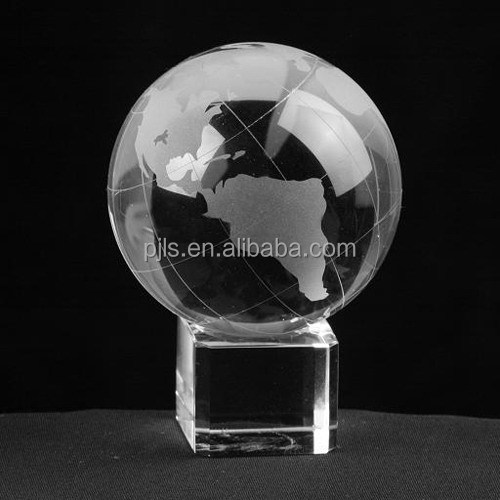 crystal glass earth globe