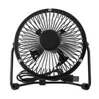 Ultra Quiet and Strong Wind Table Desk Portable Mini Fan with 360 Degree Rotation and USB Cable