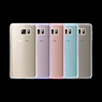 Wholesale New Soft Pudding TPU Soft Clear Silicone Cover Case For Samsung Galaxy Note 5