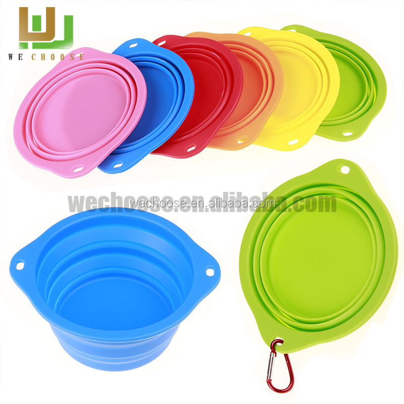 2016 Hot item personalized silicone collapsible dog bowl for dogs