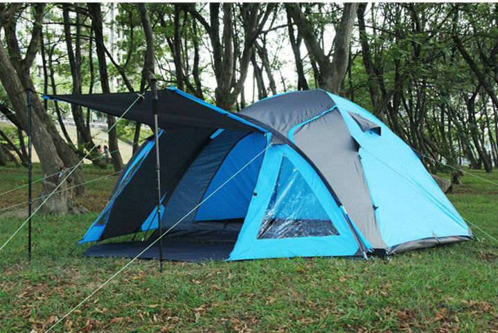 4 person family double skin outdoor tent