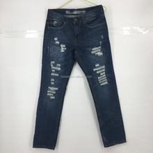 Men new fashion stock ripped straight fancy jeans