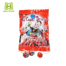 19 Gram Bubble Gum Inside Hard Candy Gum Filled Lollipop Candy