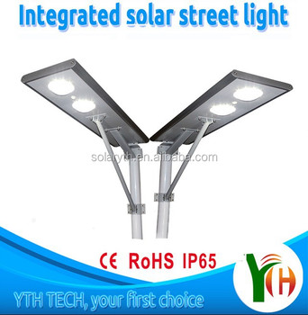 2015 newest design integrated High Lumen Led Solar Street Light all in one solar street light made in shenzhen on sale