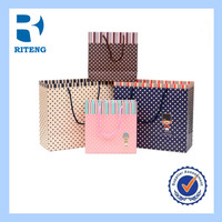 Recyled full color shopping package customized retail kraft paper bag