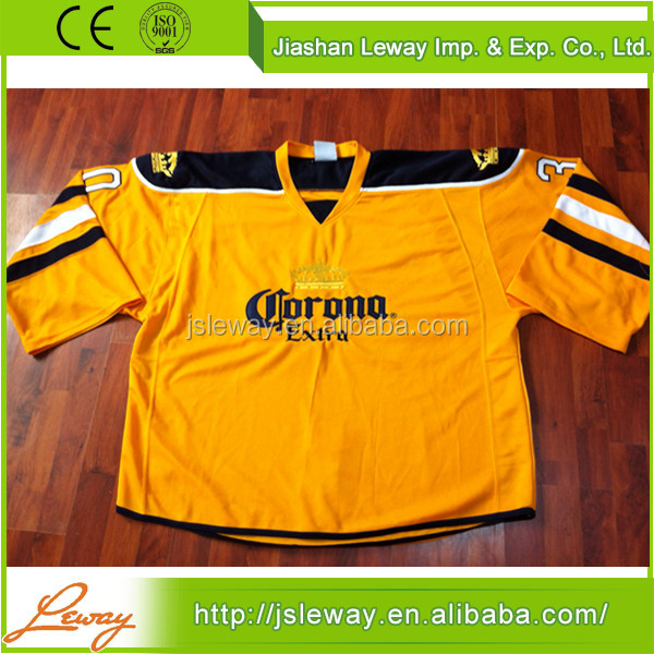 China supplier knit air custom oversized ice hockey jersey size 4xl goalie