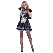 sexy costumes women ladies french maid lace black fancy dress cosplay costumes for party performance