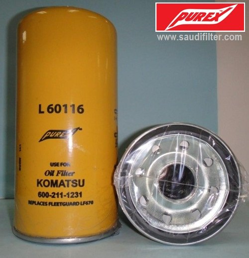 6002111231 / 3313279 Oil filter for Komatsu