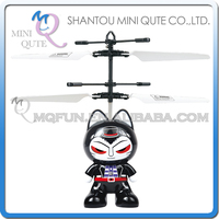 Mini Qute LED RC remote control flying Helicopter cartoon Zhuaimao Cat model plastic doll kids Electronic toys NO.CK820A-7