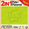 RENJIA divided plate baby food mat silicone silicone mat for baby food