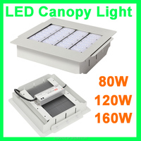 5 years warranty high quality 80W 120W 160W CE BV TUV gas station led canopy lights