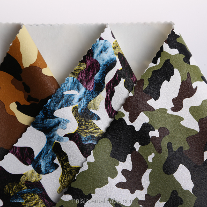 Polyester PU leather camouflage