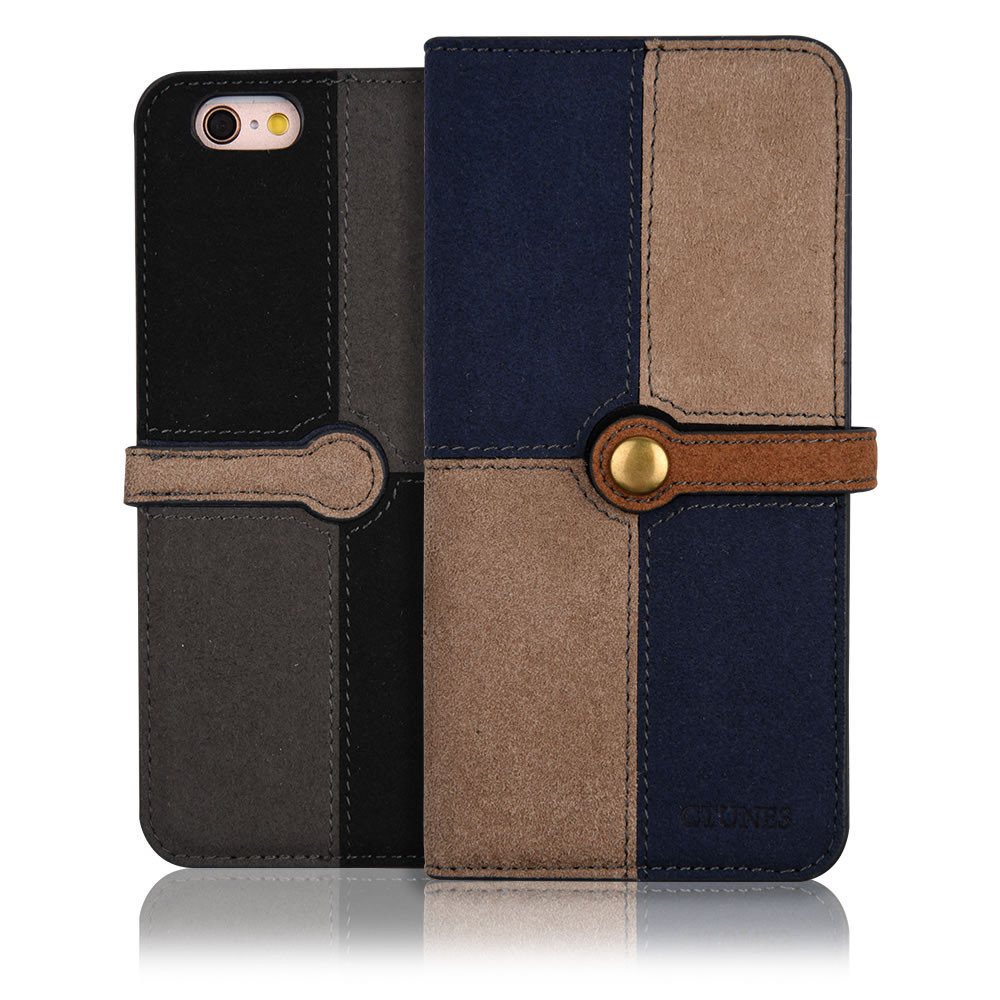 C&T Magnetic Jeans Leather Canvas Wallet Flip Folio Stand Cover for iphone 7 wallet case
