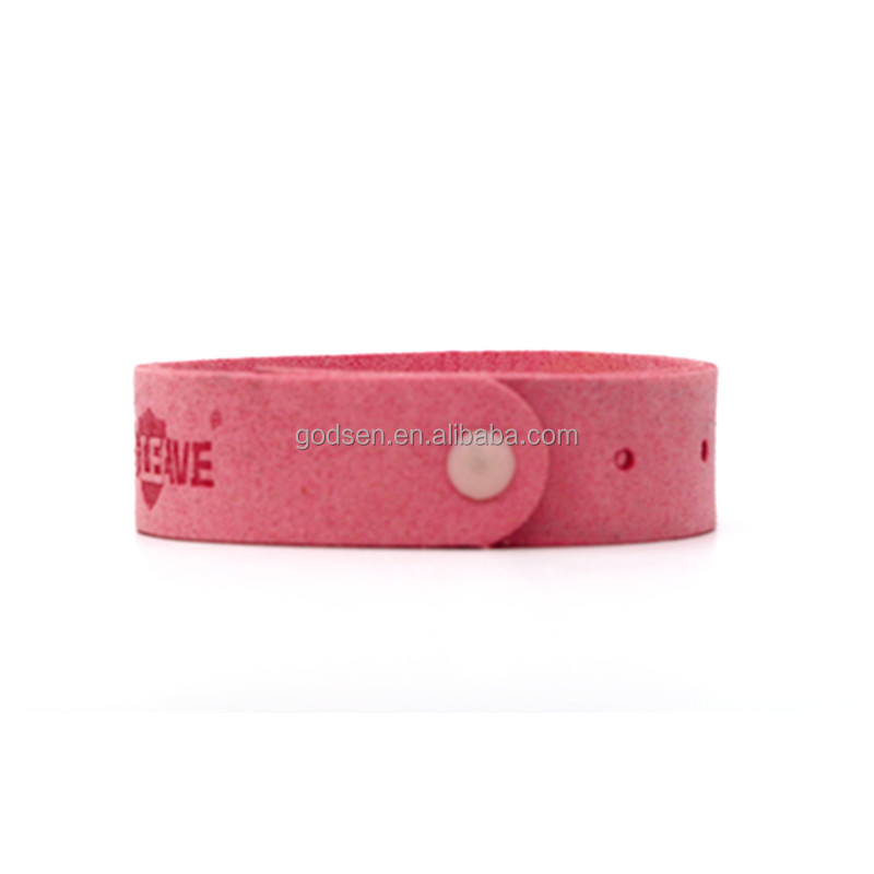 Leather anti Mosquito Repellent bracelet, silicone bracelet