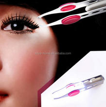New Arrival LED Light Eyelash Eyebrow Hair Removal Tweezer / Stainless Steel Eyebrow Tweezers