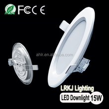 Warehouse or office lighting LM80 IES Led downlight 6inch 15w/18w dimmable ultra led panel light
