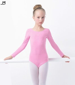 Long Sleeves Cotton Spandex Kids Gymnastic Leotards for Dance and Ballet/Kids Dancewear