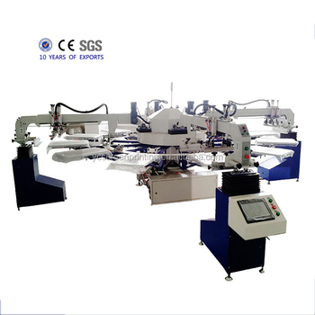Automatic Screen Printing Machine Tshirt 4 Colors