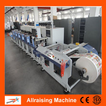 Full Automatic Self-Adhesive Label 4 Colour Flexo Printing Machine