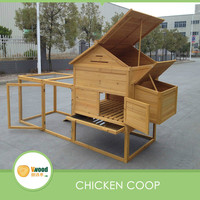 All-in-one Hinged Roof Barn Chicken Coop with large run