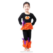 children's kids boutique clothing girls top dress and pant clothes sets halloween outfits