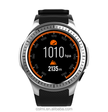 Custom Logo New Model Fashion Android GPS Heart Rate Blood Pressure Rubber Reloj Smart Watch