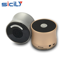 Portable Mini Super Bass Stereo Bluetooth Speaker Metal Steel Wireless Audio Player With Mic