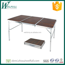 Folding table outdoor furniture 3 sections picnic table