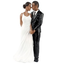 Wedding Cake Toppers African American Wedding Figurine