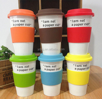 Double Layer Coffe mugs with silicone lids ,Not a Paper cup