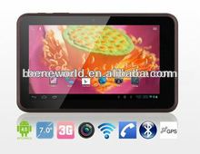 angry bird 7 inch tablet pc with mtk8377 dual core dual 3g calling sim card gps bluetooth function