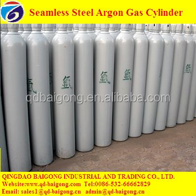 China Made 40L Seamless Steel High Pressure Argon Cylinder