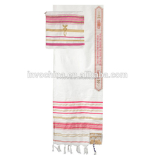 Fashion tallit plaid pashmina shawl scarf and jewish talit clips